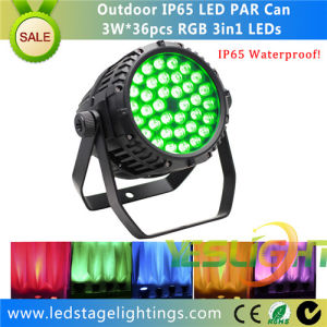 Waterproof LED DJ Light 36PCS*3W RGB Epistar Tri LED for Outdoor Using pictures & photos