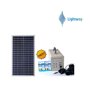 50W Grey Solar Power System for Home Use (Lithium Battery/Lead Acid Battery) pictures & photos