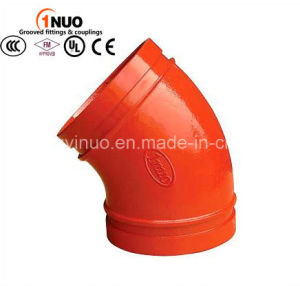 FM/UL Ductile Iron Pipe Fittings 22.5 Degree Bent Steel Pipe Fittings pictures & photos