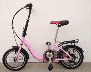 Hot Sale 16 Inch 6 Speed Aluminium Alloy Lady′s Folding Bike (YK-FB-018)