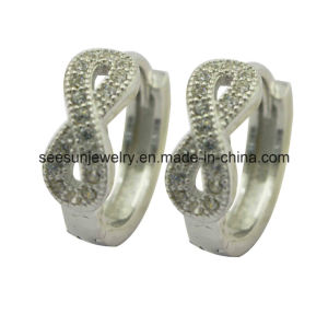 925 Silver Jewelry Infinity Huggies Earring pictures & photos