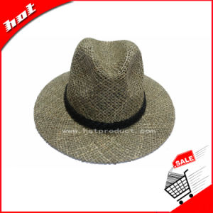 Seagrass Straw Hat Natural Straw Panama Fedora Hat pictures & photos