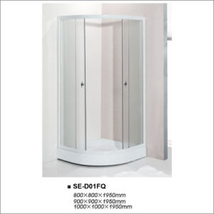 Sliding Open Door Fabric Glass Shower Enclosure with Sector Tray pictures & photos
