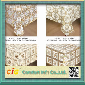 574′′ PVC Table Lace Cloth in Roll pictures & photos