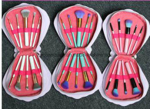 New Makeup Tool Spectrum Brushes Mermaid Dreams 10PCS Makeup Brush Set with Glam Clam Case pictures & photos