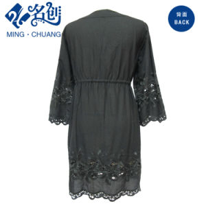 Fashion Ladies Lace Dress Black pictures & photos