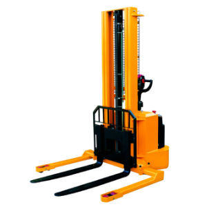 Full Electric Powered Forklift Pallet Stacker with Straddle Leg pictures & photos
