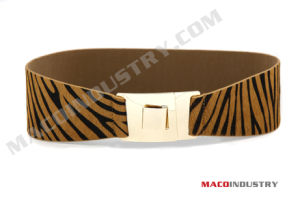 Tiger Print Horse Fur Lady Waist Belt (Maco 638)