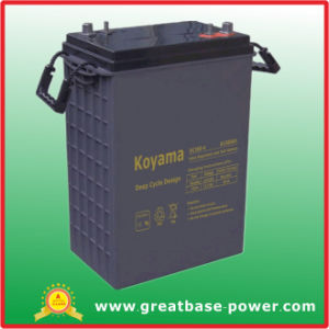 High Quality Commercial Floor Scrubbers Deep Cycle Battery 6V 380ah pictures & photos