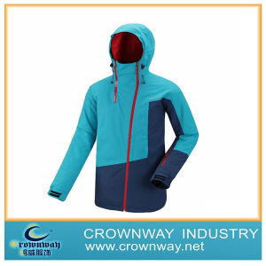 Women′s Contrast Color Ski Snowproof Jacket for Sports (CW-WSKIW-59) pictures & photos