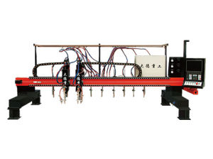 CNC5 Gantry Type Multi Head Vertical Strip Flame & Plasma Cutting Machine