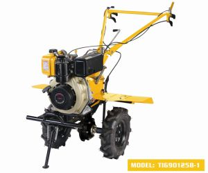 Popular 9HP Diesel Rotary Tiller with Manual Start pictures & photos