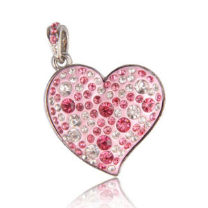 Jewelry Peach Heart Shape Flash Card Pen Drive USB Flash Drive pictures & photos