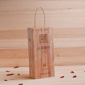 Customized Hand Carved Wooden Wine Boxes for Gift Box