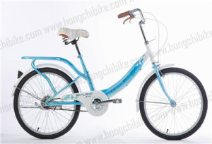 "16"" Alloy Frame City Bike with Rear Carrier for Lady (HC-TSL-LB-01126) pictures & photos"