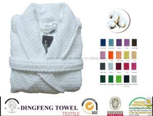 100% Cotton Walffle Solid Color Bathrobe Df-8871 pictures & photos