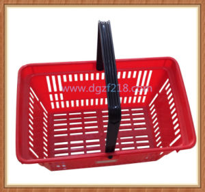 20L Small Portable Plastic Shopping Basket for Supermarket pictures & photos