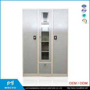 Mingxiu Office Furniture 3 Door Steel Almirah / Assembled Steel Wardrobe pictures & photos