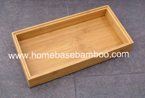 Bamboo in Drawer Storage Box Tray (Stackable Box) Hb5008 pictures & photos