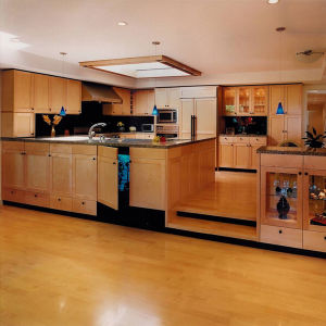 2016 Hot Sales American Fashion Cherry Wood Kitchen Cabinet pictures & photos