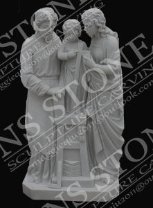Virgin and Child Sculpture in Pure White Marble Ms-102 pictures & photos