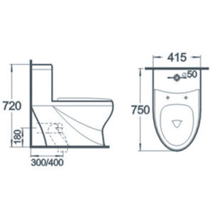 China Manufacturer Wc Bathroom One Piece Ceramic Toilet pictures & photos