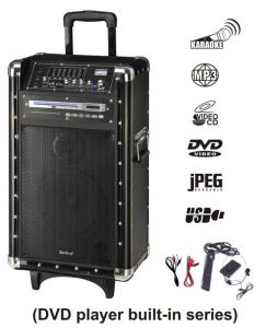 Professional Speaker System with Handles and Trolley Wheels (A-10D)