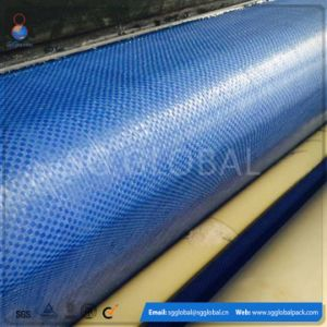China Blue Color PP Flat Woven Fabric