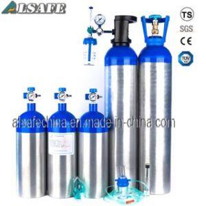 Blue Neck, Silver Aluminum Medical Oxygen Tanks pictures & photos