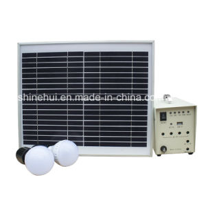 10W Mini Solar Home System with LED Bulbs pictures & photos