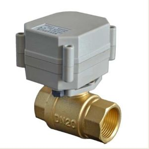 Hot Sale Electric Control Brass Valve Mini Size 1/2 Inch Motorized Flow Brass Ball Valve (T20-B2-A) pictures & photos