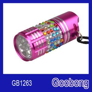 Mini 9LED Aluminium Alloy Flashlight