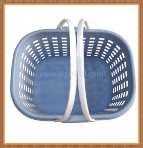 Customized Small Plastic Storage Laundry Basket with High Quality Wholesaler pictures & photos