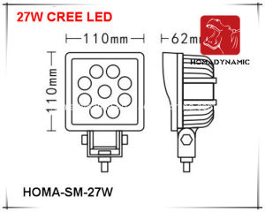 5 Inch 27W LED Work Light LED Driving Light LED Offroad for SUV pictures & photos