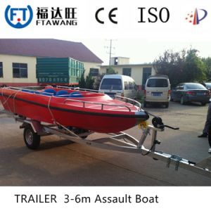 Galvanizing Kayak Boat Trailer Yacht Transport Trailer pictures & photos