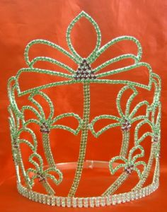 Pageant Tiara Crown for Prom for Princess H-607, Rhinestone Tiara, Fashion Tiara