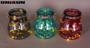 Furniture Decoration Light Glass Craft with Copper String LED Lighting (9111) pictures & photos