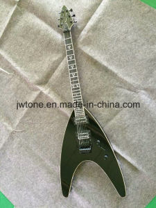 Black Color OEM Neck Through Body Electric Guitar pictures & photos