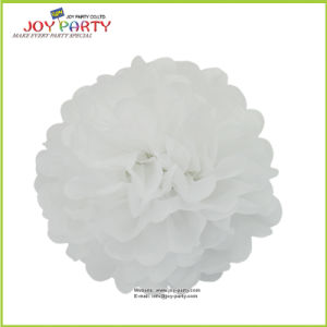 White Paper POM Poms for Wedding Party Home Christmast Decoration