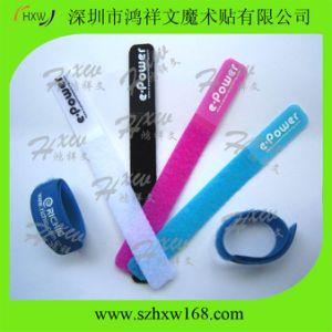 100% Nylon Hook & Loop Cable Tie with Custom Logo