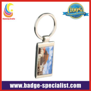 Zinc Alloy Keychain with Printing Sticker (HS-KC047)