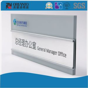 Aluminium Flat Office Name Board Wall Mounted Sign pictures & photos