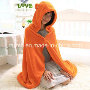 100% Coral Fleece Cloak Sopersoft and Warm Blanket for Home pictures & photos
