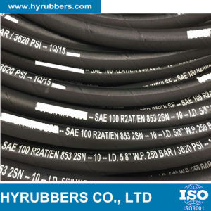 Steel Wire Braided High Pressure R2at 2sn Rubber Hydraulic Hose pictures & photos