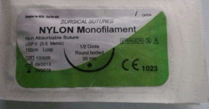 Surgical Suture, USP1 Nylon Suture with Needle pictures & photos