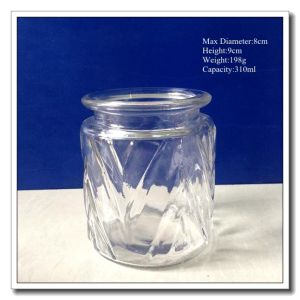 Wholesale High Quality Enaraved Glass Storage Jar pictures & photos