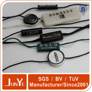 Customize Garment Plastic Seal Tag with String for Label in Customized Shape