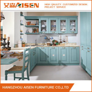 2017 High Quality Standard Solid Wood Commericial Kitchen Cabinet pictures & photos