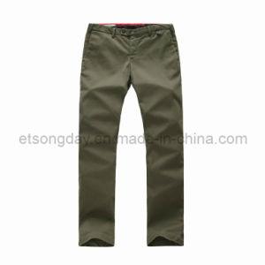 Army Green Cotton Spandex Men′s Trousers (APC-A05ES) pictures & photos