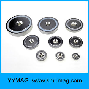 Neodimium Magnet Shallow Pot with Countersunk Hole, Steel Cup by Stamping Shell pictures & photos